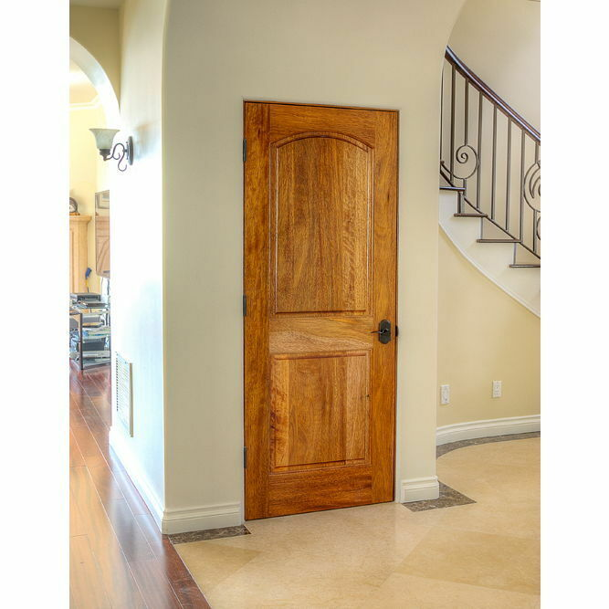 Details About Pre Hung Or Slab 30 X80 Interior Mahogany 2 Panel Arched Wood Door 1 3 4 Eto