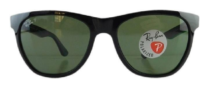 3fd4f1ea96 Details about Authentic Ray-Ban Polarized Black   Classic Green Sunglasses  RB4184 601 9A
