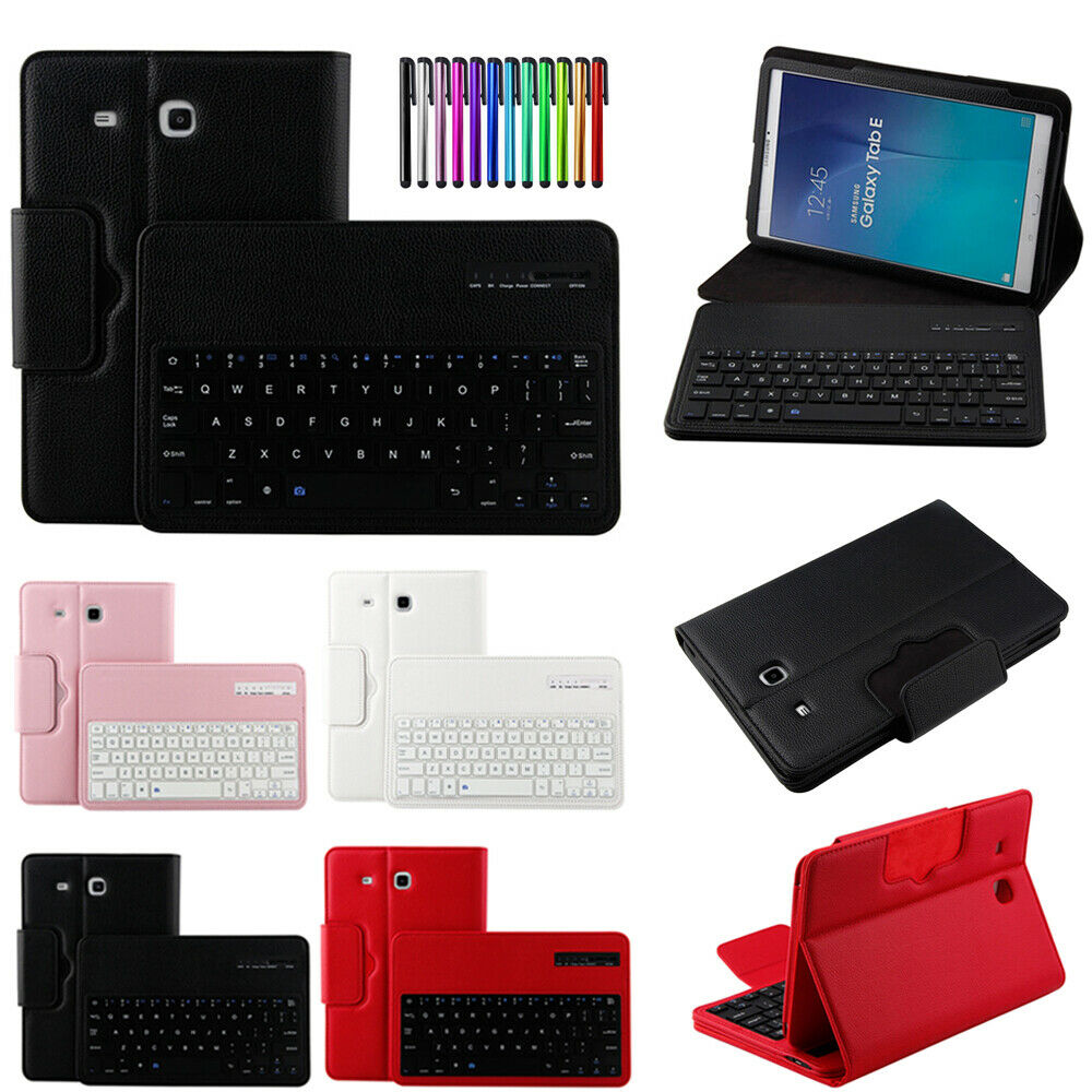 Detachable Bluetooth Keyboard Stand Leather Case Cover For Samsung Galaxy  Tablet
