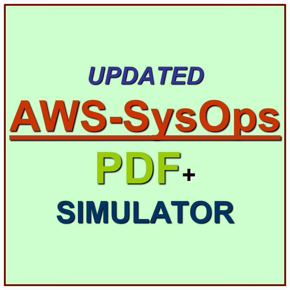 Amazon Aws Certified Sysops Administrator Associate Test Aws Sysops