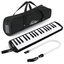 37 Keys Portable Melodica Pianica Keyboard+Mouthpiece With Carrying Bag