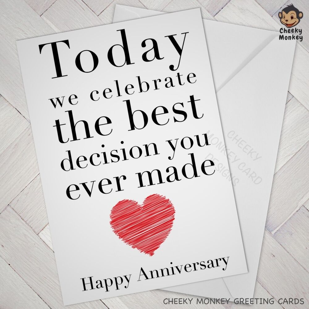 Funny Wedding Anniversary: Funny ANNIVERSARY CARD Engagement Cards Wedding Wife