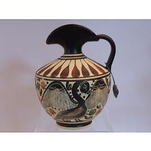arb23 ANCIENT GREEK MUSEUM REPRODUCTION CORINTH EWER 430 BC 4 3/8