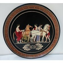fb1bx ANCIENT GREEK REPRODUCTION POTTERY PLATE, by Vassilopoulos