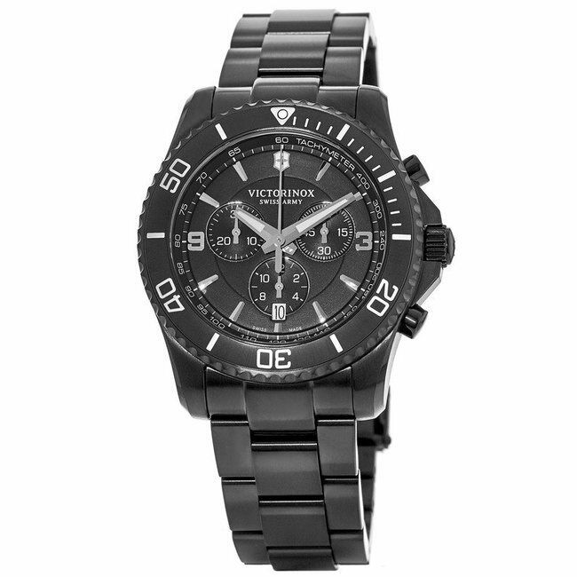 4c8aef6fa01 Details about New Victorinox Swiss Army Maverick Chronograph Black Men s  Watch 241797