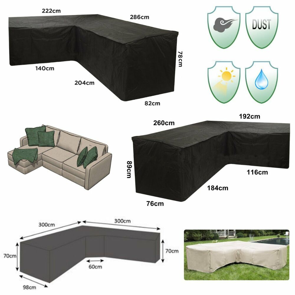 Sectional Couch Covers Waterproof: 4 Size L Shape Corner Sofa Couch Cover Waterproof