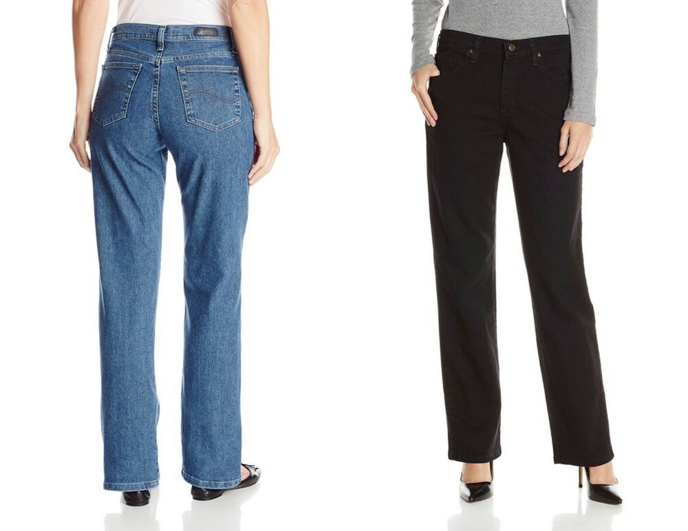 fcf25461 Details about Lee Women's Relaxed Fit Straight Leg Stretch Jeans - Select a  size/color