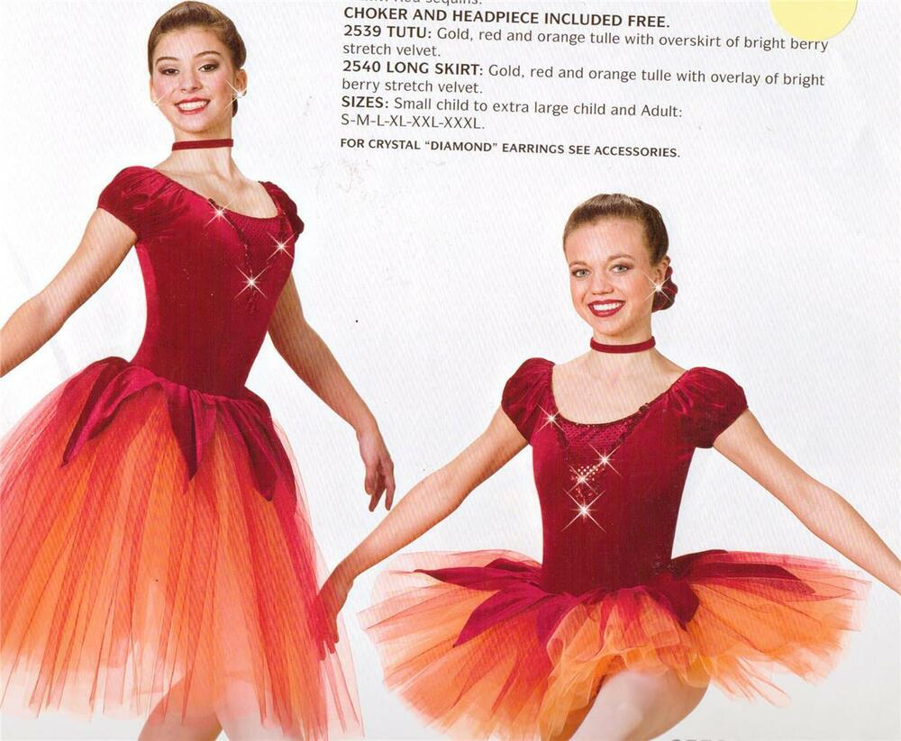 b4299fb52 DANCE COSTUME PROFESSIONAL BALLET ART STONE TUTU AUTUMN LEAVES | eBay