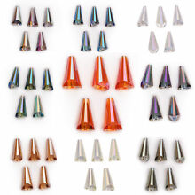 10x20mm 10pcs Faceted Pagoda Cap Teardrop Glass Crystal Loose Beads  Accessories