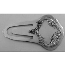 REED & BARTON STERLING SILVER READING PAGE MARKER, holder, SAVE BOOK MARK