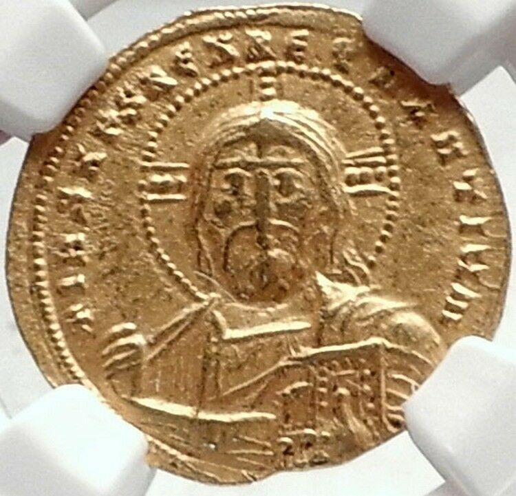 Ancient Byzantine 1020-1028 Basil Ii/ Constantine Viii Large Follis Christ #8 In Short Supply Coins: Ancient