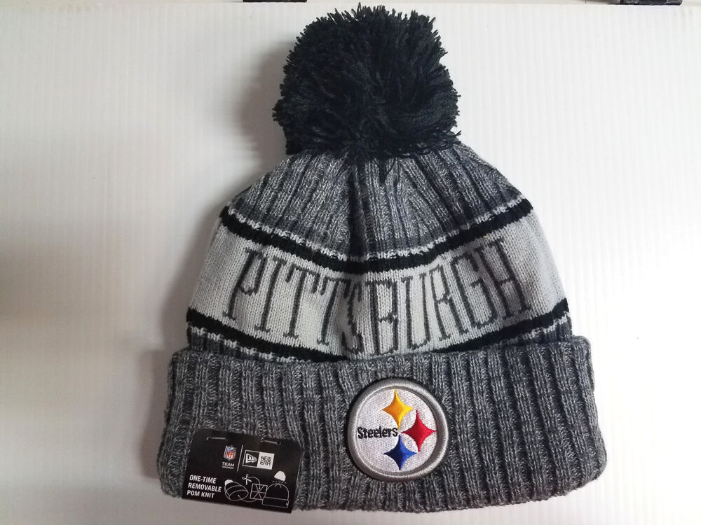 Details about Pittsburgh Steelers New Era Knit Hat Graphite 2018 Sideline  Beanie Stocking Cap b00e9b144ff