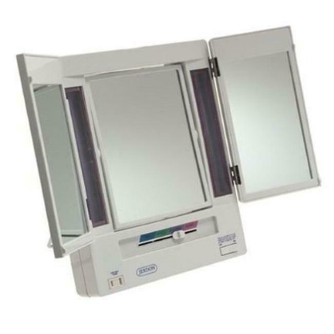 Jerdon Jgl9w 5x Magnification Tri Fold Lighted Mirror Ebay
