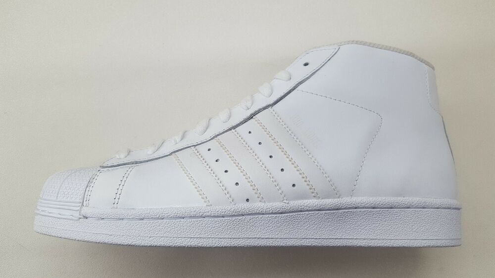 brand new f1408 1870e Details about ADIDAS ORIGINALS PRO MODEL ALL WHITE LEATHER MENS SIZE SHOES  SNEAKERS AQ5217