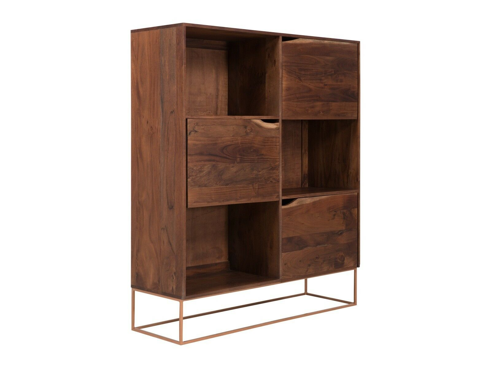 cheap highboard tren kommode vitrine holz akazie schrank wohnmbel massivum with kommode und vitrine