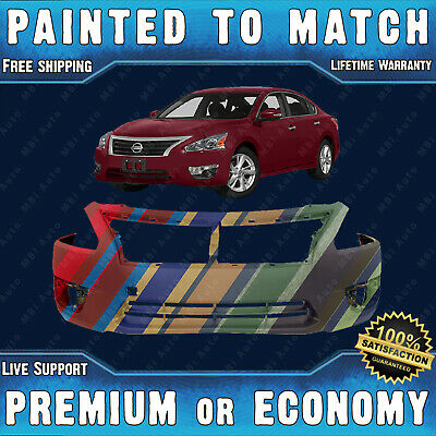 Painted To Match Front Bumper Cover Exact Fit for 2013-2015 Nissan Altima 4door