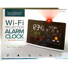La Crosse Technology WiFi Projection Alarm Clock Weather C82929  AccuWeather
