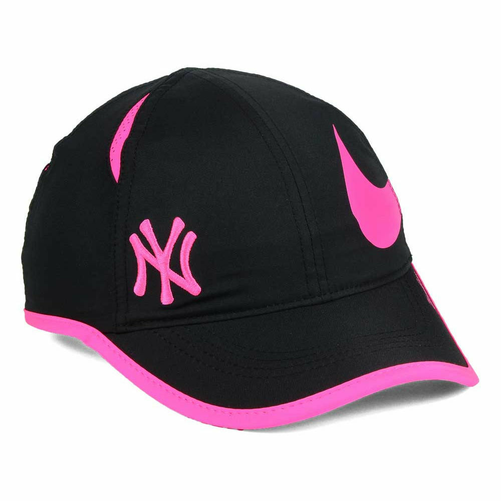 87a47ccea2e Details about New York Yankees MLB Women s Nike Featherlight Cap Hat  Adjustable Dri-Fit Ladies