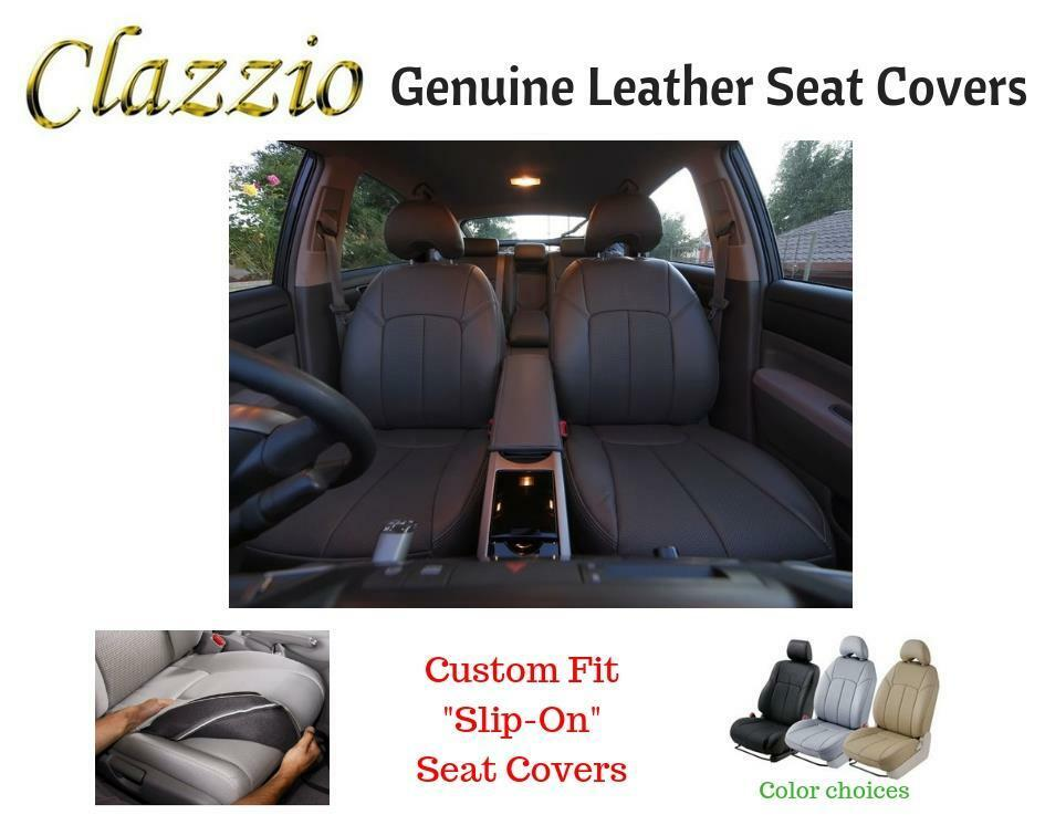 Details About Clazzio Genuine Leather Seat Covers For 2007 2017 Toyota Camry Se Black