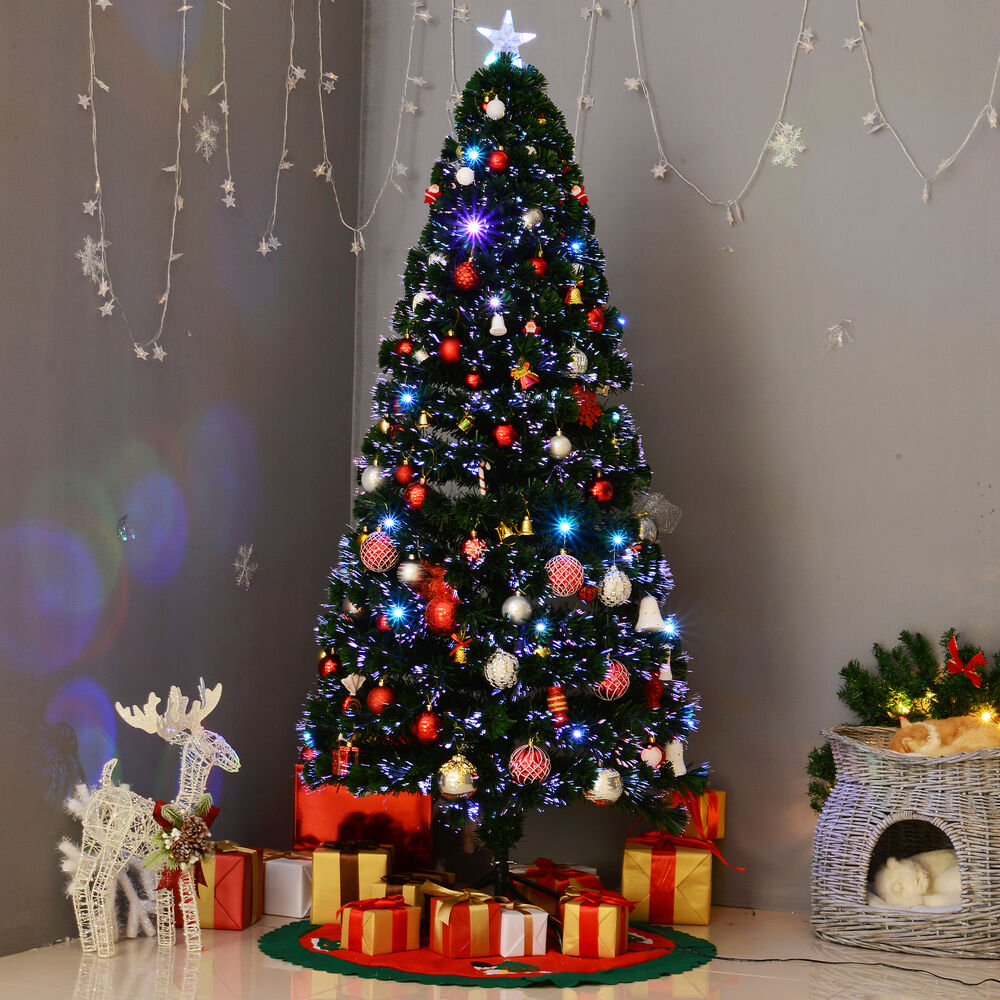 6' Pre-Lit Fiber Optic Artificial Christmas Tree Colorful