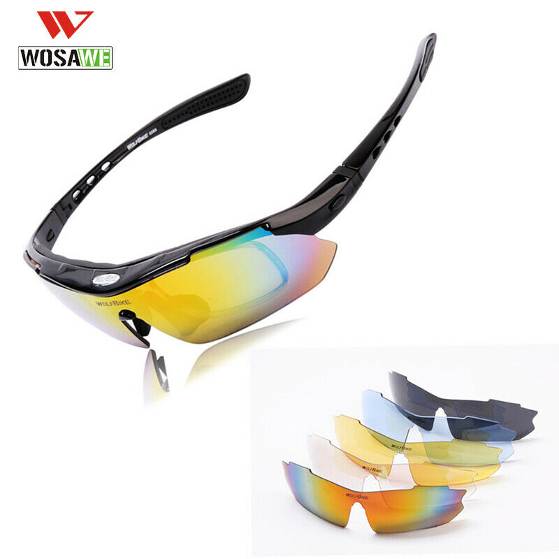 57584f5c3c3 Details about RockBros Polarized Cycling Sunglasses Goggles Eyewear Sports Glasses  5 Lenses