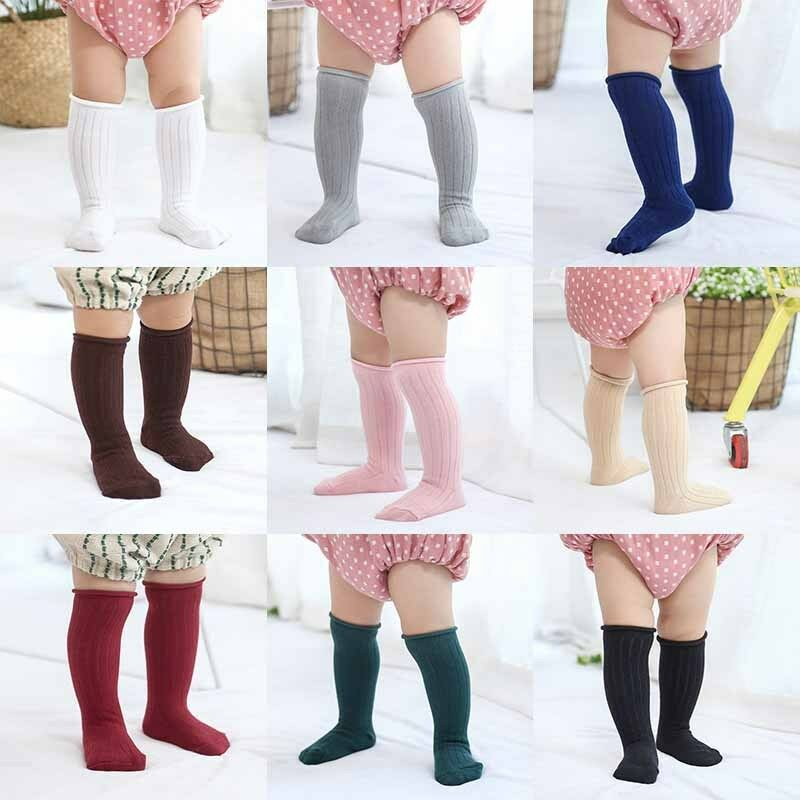 453014189 Details about Cute Baby Toddler Girl Kids Knee High Socks Winter Cotton  Thicken Warm Stocking
