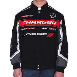 Kyпить Dodge Charger Jacket Mens Embroidered Collage Logos Dodge Twill Jacket NEW  на еВаy.соm