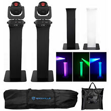 (2) Chauvet Intimidator Spot 360 Moving Heads DMX Party Lights+Totem Stands