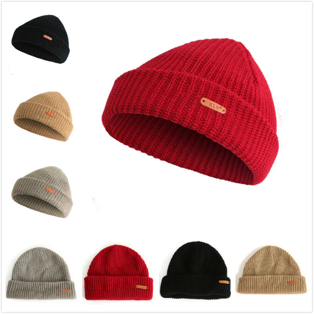 c682f111793 Details about KLV Trawler Beanie Hat Fisherman Retro Hipster Style Knitted  Look HH