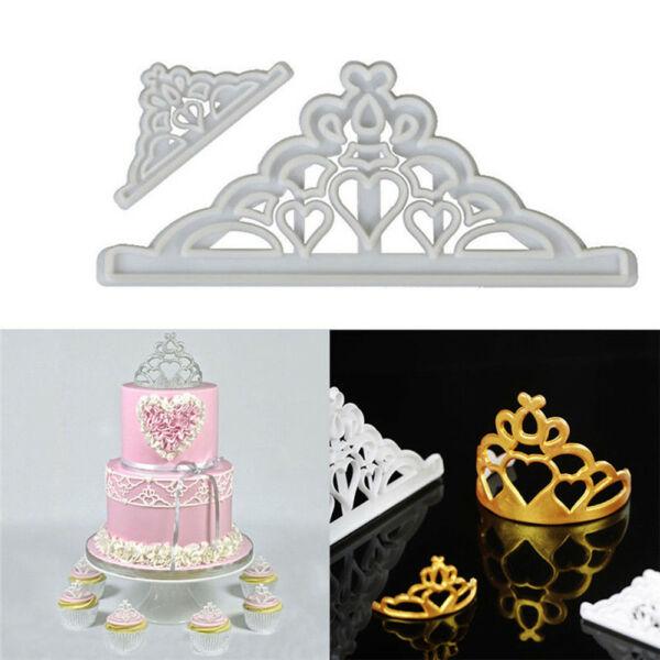 New Crown Chocolate Mold Silicone Mold Fondant Pastry Baking Decor Tools