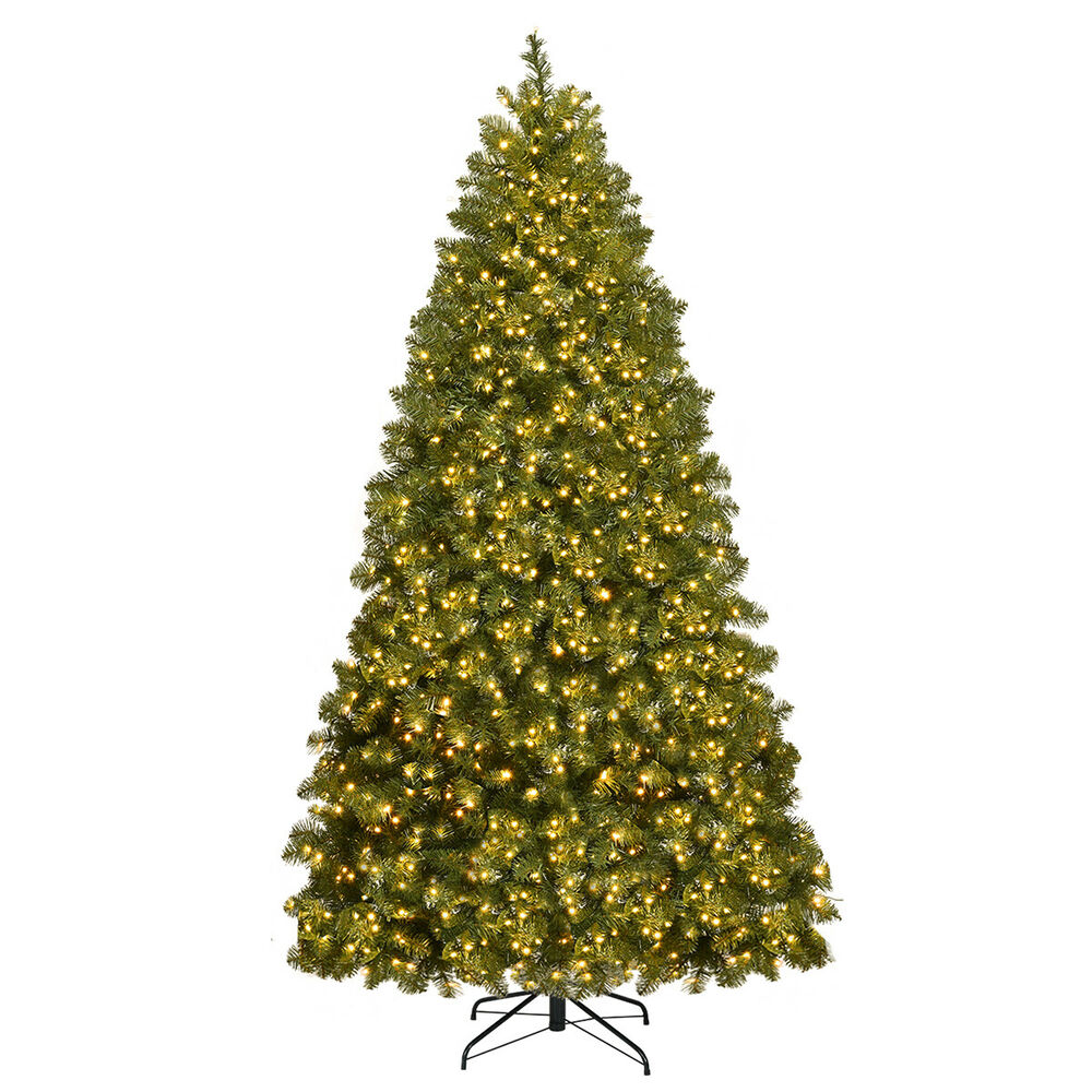 Pre Lit Led Lights Christmas Tree: 7Ft Pre-Lit Dense PVC Christmas Tree Spruce Hinged W/700