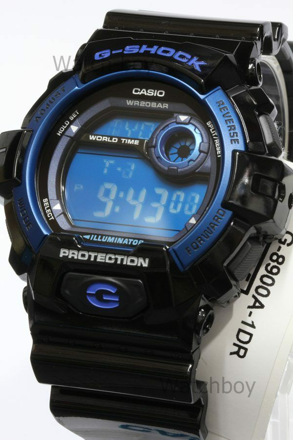 be356ea124a Details about G-8900A-1D Black Blue G-Shock Men s Watches Casio 200m Resin  Band Sport New