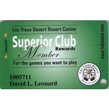 Lac Vieux Casino - Superior Club - Slot Card