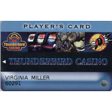 Thunberbird Casino - Player's Card - Slot Card