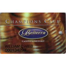 Belterra Casino - Champions Club - Slot Card