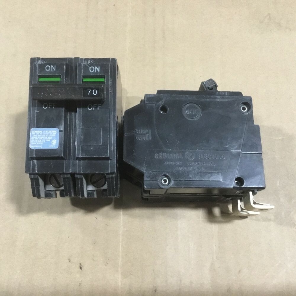Details About GENERAL ELECTRIC GE THQB THQB2170 2 POLE 240V 70 AMP CIRCUIT BREAKER OLD STYLE