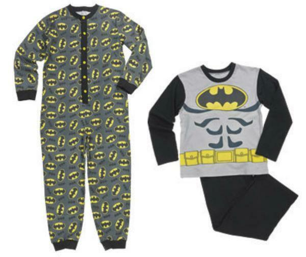 Boys Official BATMAN One Piece fleece Sleepsuit Pyjamas All In One Age 2-8 Year
