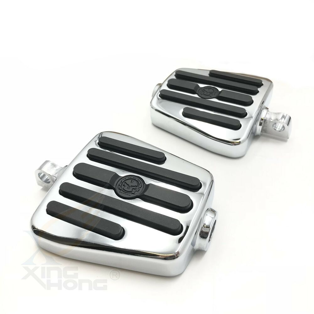 Motorcycle Accessories & Parts Special Section Motorcycle 10mm Chrome Skull Male Mount Foot Pegs Footrests For Harley Electra Glide Street Glide
