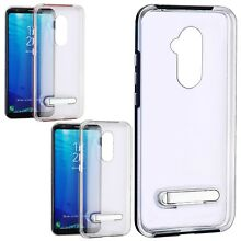 Alcatel Revvl 2 PLUS Clear Hybrid Hard Dual Layered Kickstand Phone Case Cover