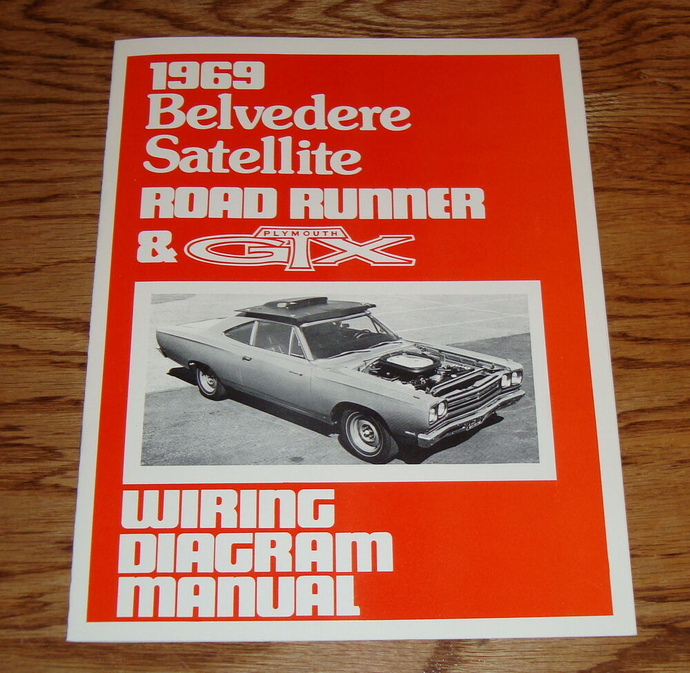 1969    Plymouth    Belvedere Satellite    Road       Runner      GTX    Wiring       Diagram    Manual 69   eBay