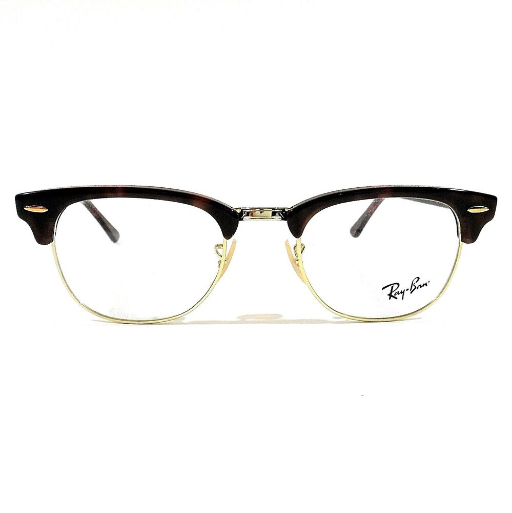 Details about New Ray Ban Clubmaster Eyeglasses RX Frame RB 5154 2372  Tortoise 49-21-140 feac35269d95