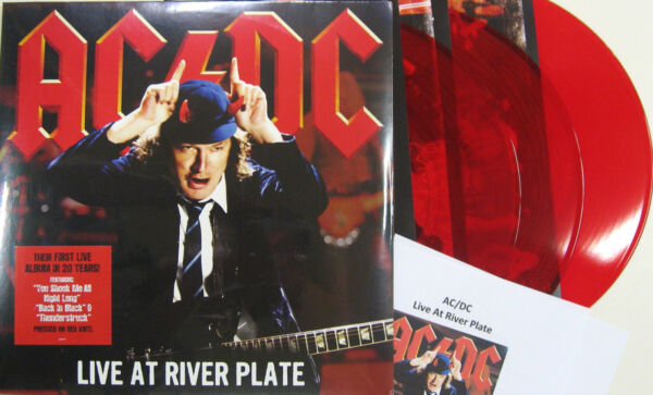 AC/DC LP x 3 Live At River Plate RED VINYL Triple album 2012 NEW Vinyl SEALED