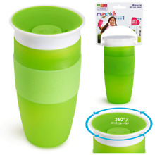 Miracle 360 Toddler Baby Spill Proof Green 14 Ounce Child Sippy Kids Cup