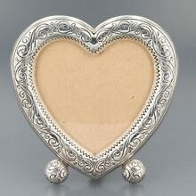 Brighton Silver Plated Sweetheart Heart Shaped Picture Frame 3-1/2