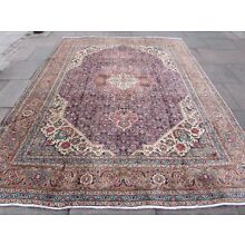 Old Hand Made Traditional Persian Rug Oriental Wool Blue Large Carpet 335x252cm