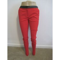 NWOT TED BAKER LONDO'' FORTUN'' contrast fabric detail skinny PANTS  2(6.)