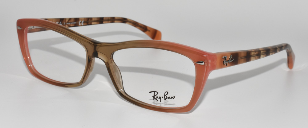 586e88df80 NEW AUTHENTIC RAY BAN EYEGLASSES RB5255 5487 GRADIENT BROWN ON ORANGE  51-16-135