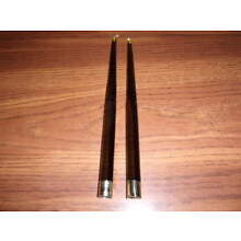 Pair Of Flameless Olive Green Acrylic Lucite Taper Candles MCM