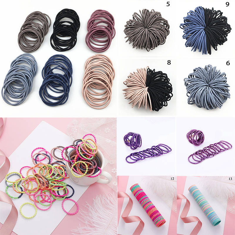 Details about 100PCS Simple Thin Elastic Rubber Bands Headwear Bum Hair  Accessories Tie Holder 3a9388f1800