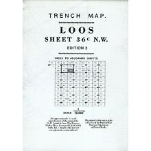 WORLD WAR 1 TRENCH MAP FRENCH SECTOR LOOS SHEET 36C N.W.3 & PART OF 1